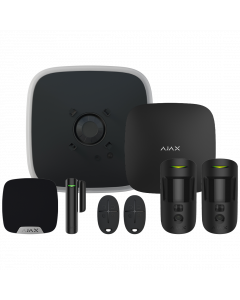 Ajax DoubleDeck Hub2 Plus Wireless Camera Starter Kit 1 - Black (AJA-23317)