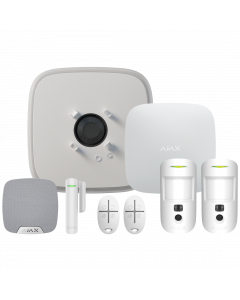 Ajax DoubleDeck Hub2 Plus Wireless Camera Starter Kit 1 - White (AJA-23318)