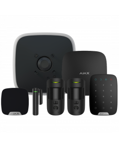 Ajax DoubleDeck Hub2 Plus Wireless Camera Starter Kit 3 - Black (AJA-23333)