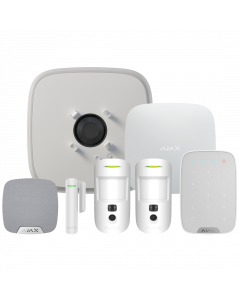 Ajax DoubleDeck Hub2 Plus Wireless Camera Starter Kit 3 - White (AJA-23334)