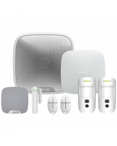 Ajax Hub2 Plus Wireless Camera Starter Kit 1 - White (AJA-23308)
