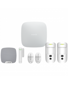 Ajax Hub2 Plus Wireless Camera Starter Kit 2 - White (AJA-23326)