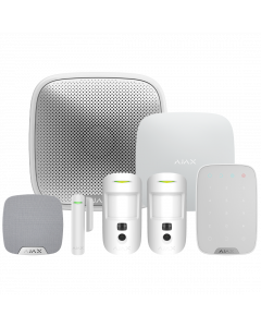 Ajax Hub2 Plus Wireless Camera Starter Kit 3 ‑ White (AJA‑23332)