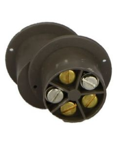 Knight Flush Round Magnetic Door Window Contact - Brown (A50B)