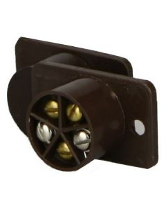 Knight Flush Magnetic Door Window Contact - Brown (A40B)