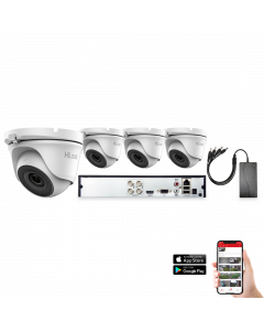 HiLook by Hikvision 4 Camera 4ch 5MP 20M CCTV Kit (HI-KIT-TVI-5MP-20M-4)