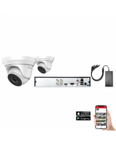HiLook by Hikvision 2 Camera 4ch 5MP 40M CCTV Kit (HI-KIT-TVI-5MP-40M-2)