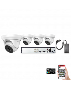 HiLook by Hikvision 4 Camera 4ch 5MP 40M CCTV Kit (HI-KIT-TVI-5MP-40M-4)