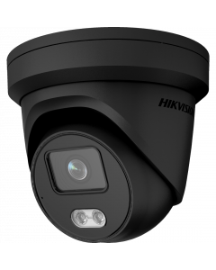 Hikvision IP Acusense ColorVu 4MP 30m Turret Dome with Microphone 2.8mm - Black (DS-2CD2347G2-LU-2.8MM-BK)