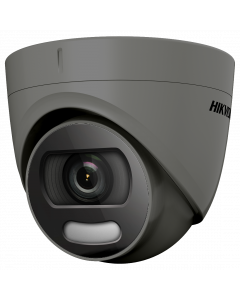 Hikvision POC ColorVu 5MP 20m Turret Dome 2.8mm - Grey (DS-2CE72HFT-E-2.8MM-GR)