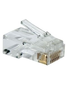 RJ45 Crimp Connector for CAT5E - Pack of 50 (CON-RJ45-CAT6E-PK50)