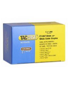 Tacwise CT60 14mm Cable Staples - White (TAC-CT60-W)