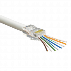 RapidFit RJ45 Crimp Connectors for CAT5E - Pack of 50 (CON-RJ45-CAT5-RAPID-PK50)