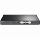 TP-Link JetStream 16-Port Gigabit Easy Smart PoE+ Switch with 2 SFP SLOTS (TL-SG1218MP)